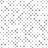 Modello senza cuciture delle file diagonali, dimensioni differenti vaghe delle palle nere Immagine Stock