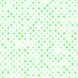 Modello senza cuciture delle file diagonali, dimensioni differenti vaghe delle palle verdi Fotografia Stock
