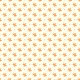 Modello senza cuciture delle foglie di acero arancio Immagine Stock