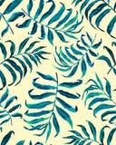Modello senza cuciture delle foglie di palma tropicali illustrazione di stock