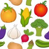 Modello senza cuciture delle icone di verdure Immagine Stock