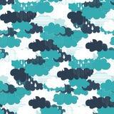 Modello senza cuciture delle illustrazioni di vettore di stagione della pioggia Immagini Stock Libere da Diritti
