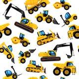 Modello senza cuciture delle macchine della costruzione veicoli del macchinario pesante grandi illustrazione di stock