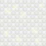 Modello senza cuciture delle mattonelle bianche con gli elementi quadrati Immagine Stock
