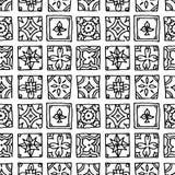 Modello senza cuciture delle mattonelle di lerciume Islam d'annata, arabo, indiano, elementi decorativi di progettazione dell'ott illustrazione vettoriale