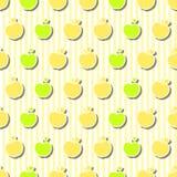 Modello senza cuciture delle mele Immagini Stock Libere da Diritti