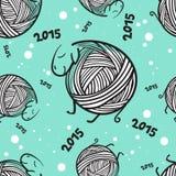 Modello senza cuciture delle pecore divertenti del nuovo anno 2015 Fotografie Stock