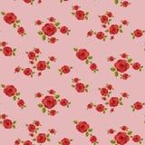 Modello senza cuciture delle rose rosse Fotografia Stock
