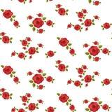 Modello senza cuciture delle rose rosse Immagine Stock