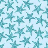 Modello senza cuciture delle stelle blu contro un fondo leggero Fotografia Stock Libera da Diritti