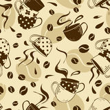 Modello senza cuciture delle tazze di caffè Immagini Stock