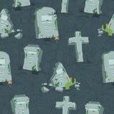 Modello senza cuciture delle tombe di Halloween Immagini Stock