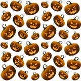 Modello senza cuciture delle zucche arancio differenti di Halloween illustrazione di stock
