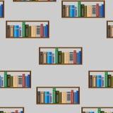 Modello senza cuciture dello scaffale di libro Immagine Stock Libera da Diritti