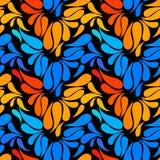 Modello senza cuciture dello slyle disegnato a mano floreale variopinto etnico di scarabocchio Immagini Stock Libere da Diritti