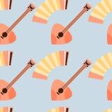 Modello senza cuciture dello strumento di musica folk dalla Russia royalty illustrazione gratis