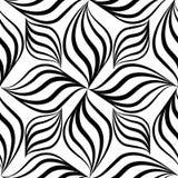 Modello senza cuciture di Abstact Linea floreale tex geometrico di turbinio Fotografie Stock