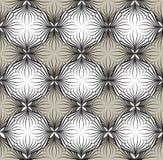 Modello senza cuciture di Abstact Linea floreale tex geometrico di turbinio Immagini Stock Libere da Diritti