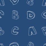 Modello senza cuciture di alfabeto inglese Fotografia Stock