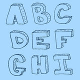 Modello senza cuciture di alfabeto inglese Immagini Stock