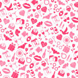 Modello senza cuciture di amore di giorno di biglietti di S. Valentino Immagini Stock Libere da Diritti