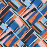 Modello senza cuciture di arte contemporanea astratta Illustrazione geometrica del collage acquerello illustrazione vettoriale