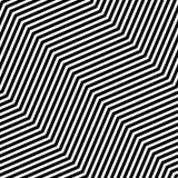Modello senza cuciture di arte op di vettore astratto Ornamento in bianco e nero grafico monocromatico Illusione ottica a strisce royalty illustrazione gratis