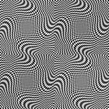Modello senza cuciture di arte op di vettore astratto Ornamento grafico monocromatico illustrazione vettoriale