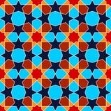 Modello senza cuciture di arte persiana blu geometrica Fotografie Stock