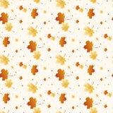 Modello senza cuciture di Autum della foglia sull'arancia bianca eps10 grigio di vettore royalty illustrazione gratis