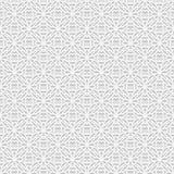 Modello senza cuciture di bianco 3D, motivo arabo, ornamento orientale, Fotografia Stock Libera da Diritti