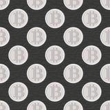 Modello senza cuciture di Bitcoin Cryptocurrency Fotografia Stock