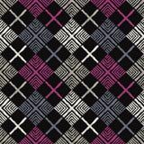 Modello senza cuciture di boho etnico Ornamento tradizionale Reticolo tribale Motivo piega Royalty Illustrazione gratis