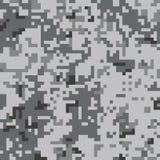 Modello senza cuciture di camo del pixel Cammuffamento urbano grigio illustrazione di stock