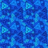 Modello senza cuciture di caos triangolare illustrazione di stock