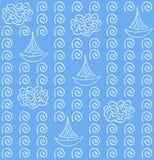 Modello senza cuciture di colore blu del vectoe dell'acquerello Fotografia Stock Libera da Diritti