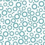 Modello senza cuciture di contrasto con i piccoli fiori blu su un bianco Fotografia Stock Libera da Diritti