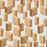 Modello senza cuciture di costruzione Fondo di vettore della città ghetto illustrazione di stock