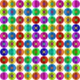 Modello senza cuciture di cucito multicolore del bottone Immagine Stock