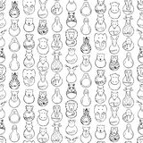 Modello senza cuciture di disegno dei bambini dei giocattoli animali Fotografia Stock Libera da Diritti
