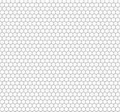 Modello senza cuciture di esagono di Minimalistic di vettore, fondo dei favi del profilo royalty illustrazione gratis