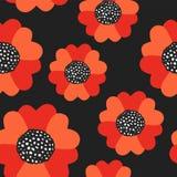 Modello senza cuciture di estate con i fiori rossi del papavero royalty illustrazione gratis