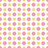 Modello senza cuciture di estate leggera Rosa affettuoso, bianco Fotografie Stock Libere da Diritti
