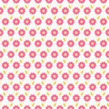 Modello senza cuciture di estate leggera Rosa affettuoso, bianco Fotografia Stock Libera da Diritti