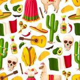 Modello senza cuciture di festa messicana di Cinco de Mayo royalty illustrazione gratis