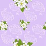 Modello senza cuciture di floreale e di Paisley Fotografie Stock Libere da Diritti