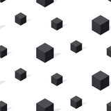 Modello senza cuciture di geomerty in bianco e nero del conncept Immagini Stock