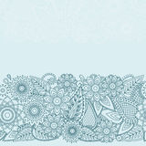 Modello senza cuciture di Henna Flowers Mehndi Design Vector Fotografie Stock