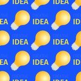 Modello senza cuciture di idea creativa delle lampadine brucianti royalty illustrazione gratis