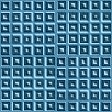 Modello senza cuciture di illusione ottica di moto dei quadrati blu Fotografia Stock